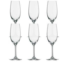 Conjunto de Taças Champagne Ivento em Cristal Alemão de Titânio 228 ml com 06 Peças - Schott Zwiesel
